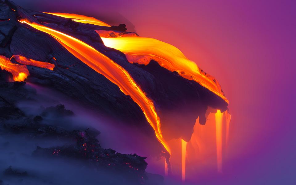 Потрясающие фотографии раскаленной лавы Брюса Омори