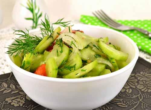 Салат из огурцов маринованные