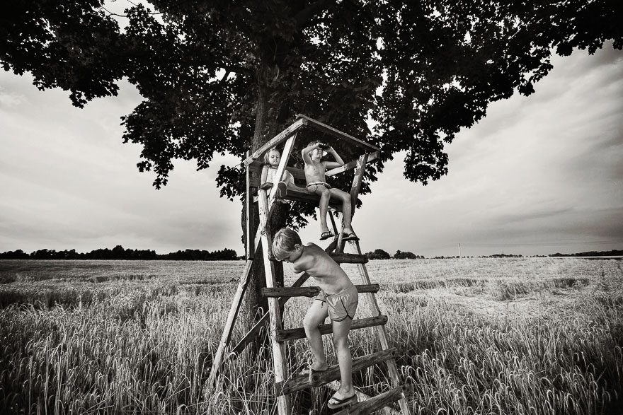 Летние каникулы в польской деревне - чёрно-белые фото-24