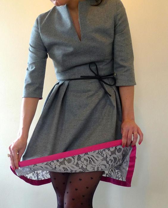 Как удлинить платье с поясом
