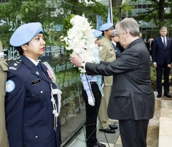 В ООН почтили память миротворцев, погибших в 2016 году