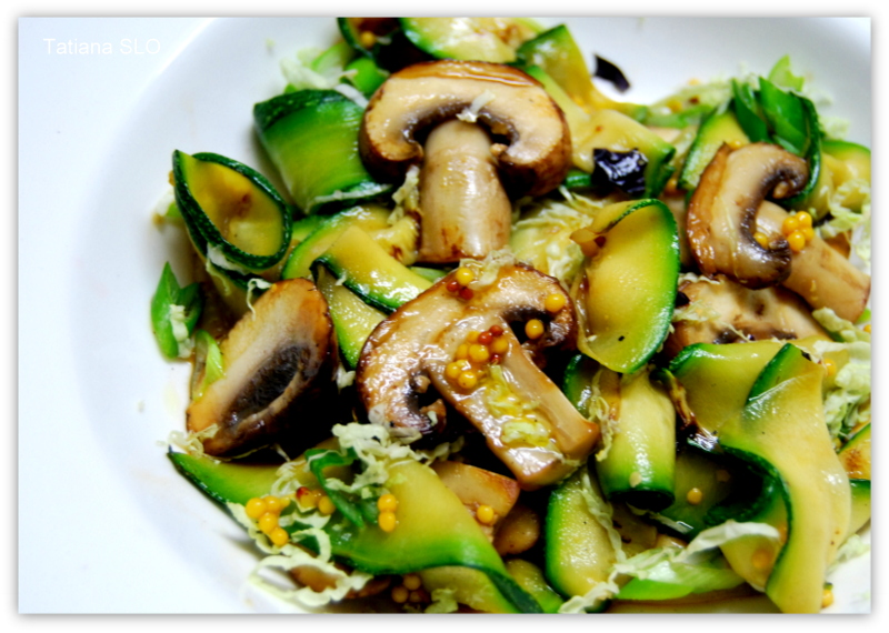 Рецепты цукини с грибами
