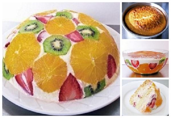 Любимый фруктовый торт с желе и вкусным коржом. Всегда готовлю на День Рождения!