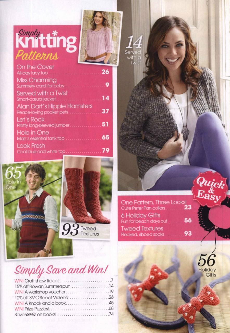 Simply Knitting №96 2012 - 紫苏 - 紫苏的博客