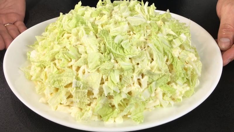 самый простой рецепт салата из пекинской капусты