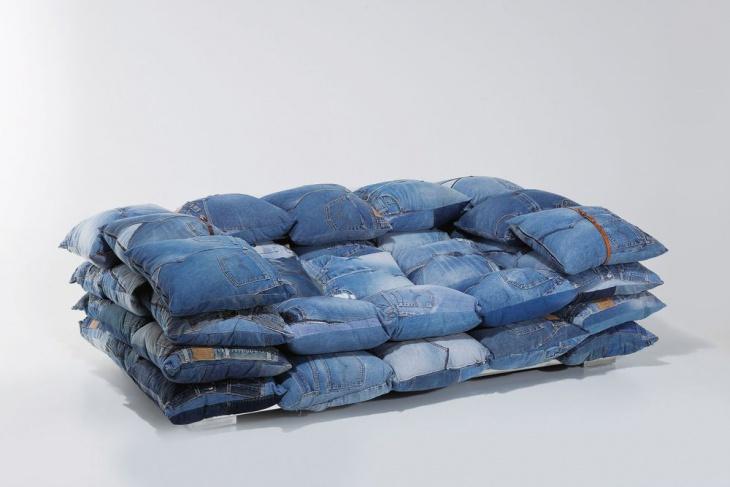 Джинсовая мебель (подборка)