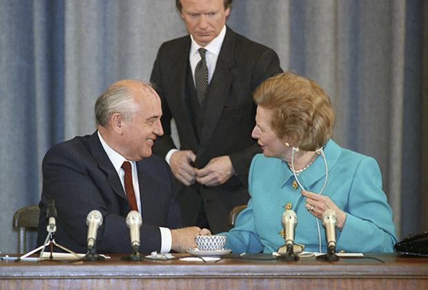 Михаил Горбачев и Маргарет Тэтчер