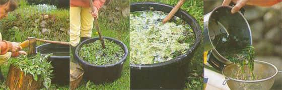 Приготовление удобрения из трав