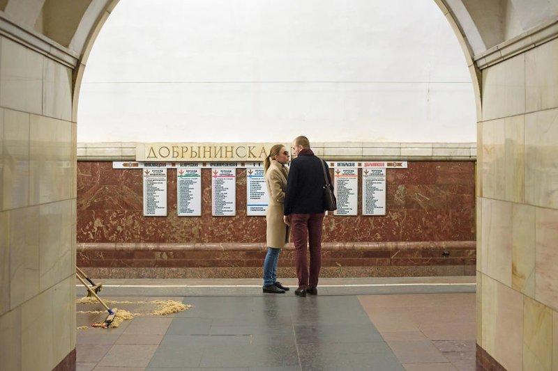 """Станция """"Добрынинская"""" иностранец в России, метро, метрополитен, москва, путешествия, россия, фото, фотограф"""