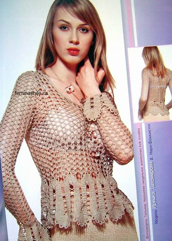 Блузка с брюггским кружевом