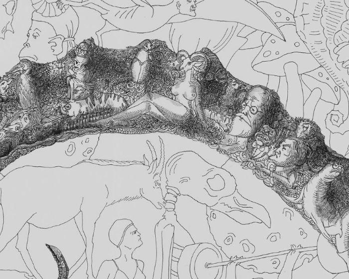 Фрагмент иллюстрации ереванского художника
