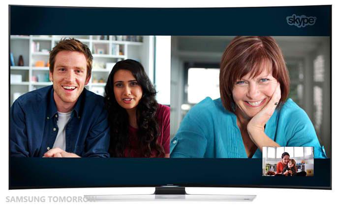 Samsung Smart TV Skype В телевизорах Samsung Smart TV появится ряд видеоигр и Skype