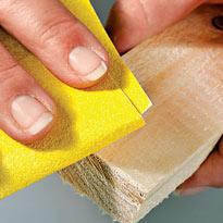 Обработка наждачной бумагой. Шаг 4