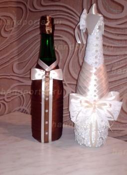 Мастер-класс по украшению свадебных бутылок