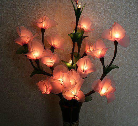 Напольный светильник-цветок своими руками