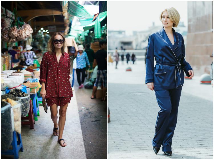 Как носить одежду в бельевом стиле: пижамы