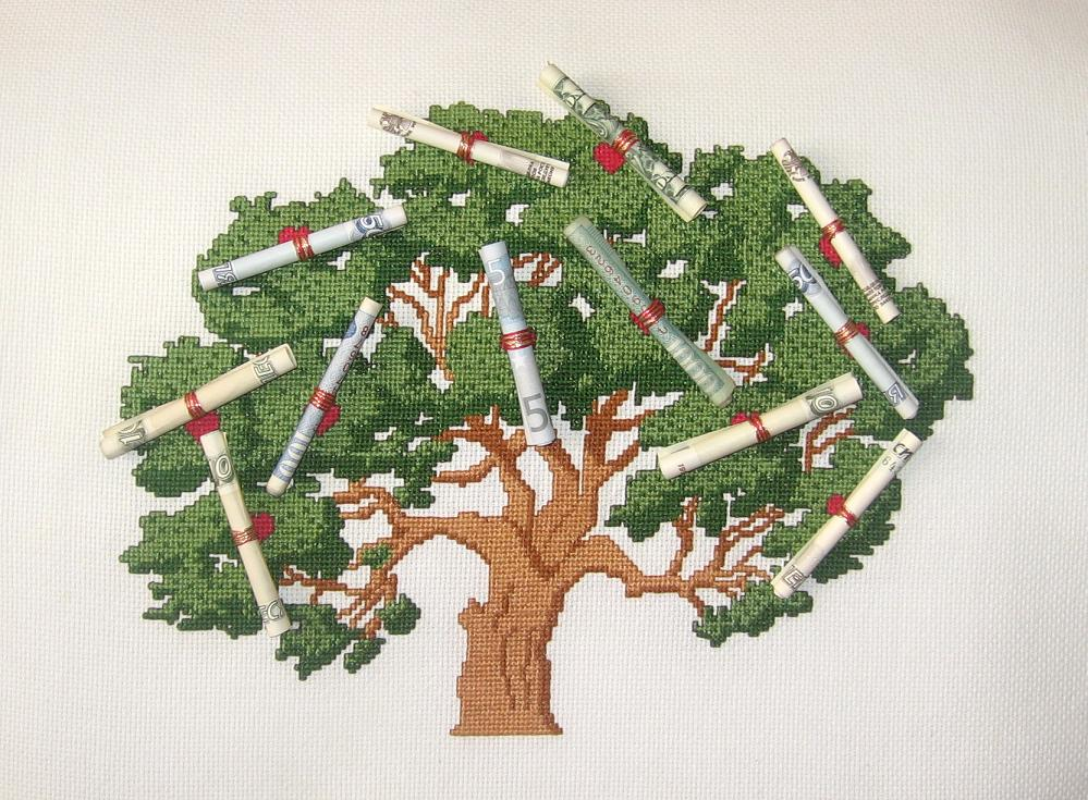 Бесплатные вышивки крестом денежного дерева