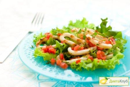 РАЗРЕШЕНО ХУДЕЮЩИМ. Салат из консервированных кальмаров
