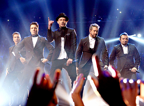 'N Sync performs during the 2013 MTV Video Music Awards at the Barclays Center on August 25, 2013 in the Brooklyn borough of New York City.
