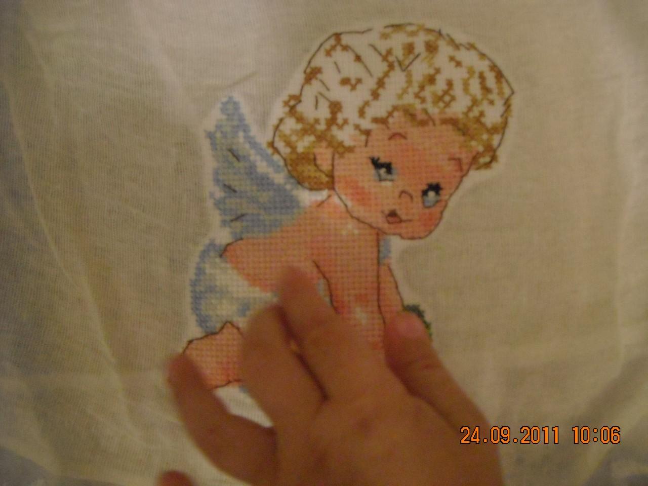 Вышивка на крестильную рубашку сыночку