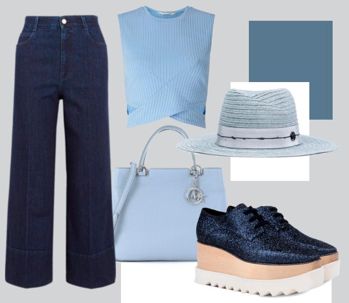 Модные джинсы клеш 2018