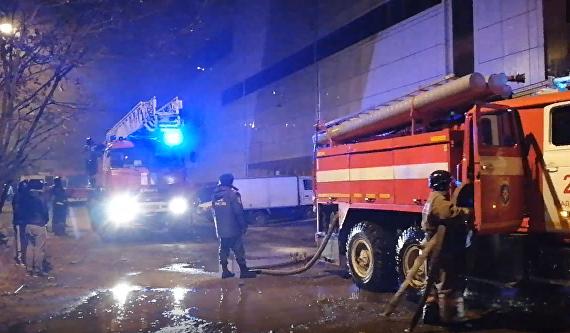 Во Владивостоке горел торговый центр