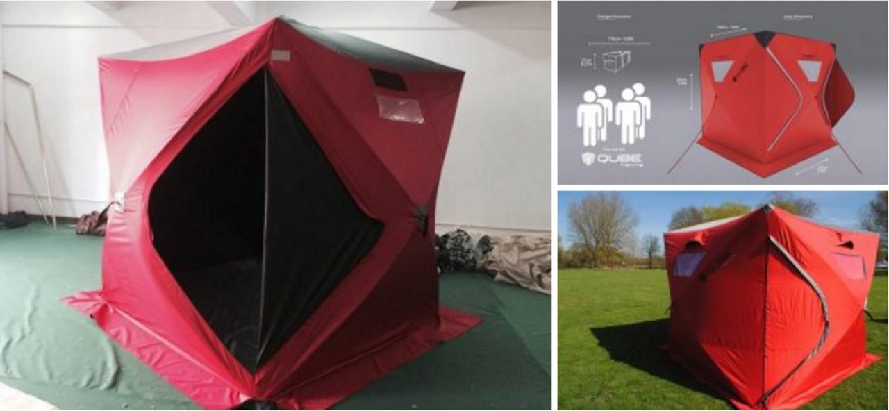 Представлена кемпинговая палатка с необычной конструкцией