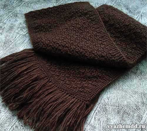 мужской шарф с бахромой