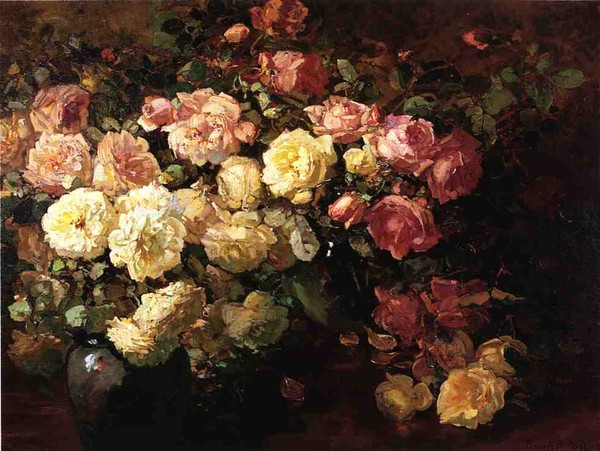 Still Life with White and Pink Roses (600x451, 91Kb)