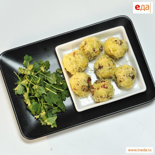 Картофельные ёжики в сырной панировке