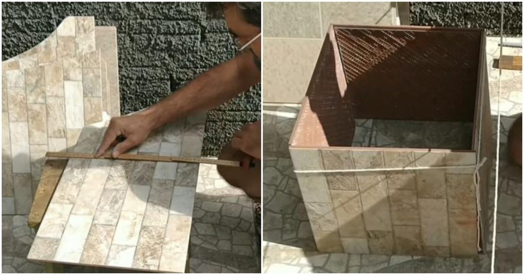 Гениальный способ, как использовать оставшуюся плитку с умом