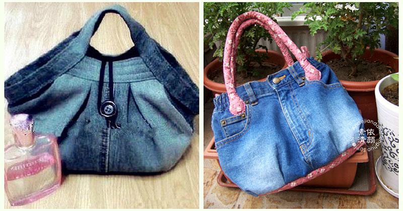 Талантливая мастерица сшила эти сумки из старых джинсов. Фото-идея и Мастер-Класс
