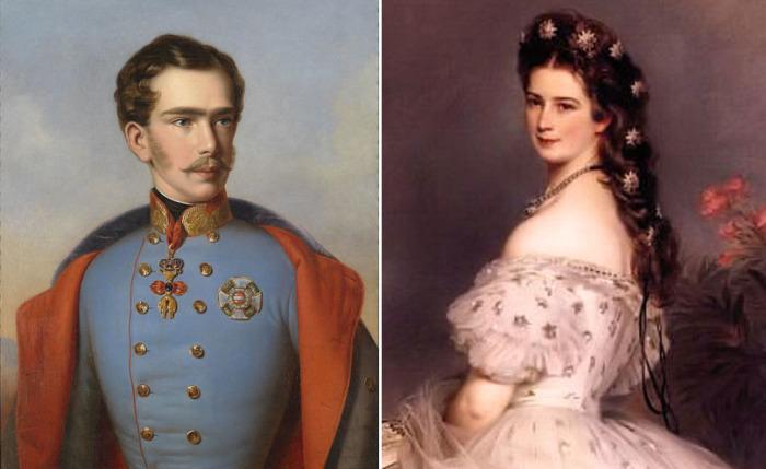 Франц Иосиф I и Елизавета Баварская, около 1854 года