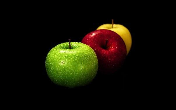 Яблоки разного цвета имеют и разные полезные свойства.