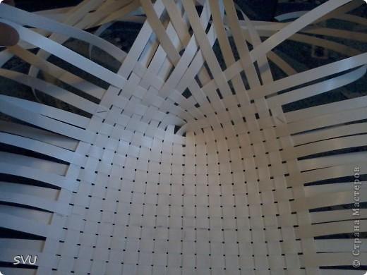 Мастер-класс Плетение Плетение корзинки из упаковочной полипропиленовой стреппинг ленты Полиэтилен фото 5