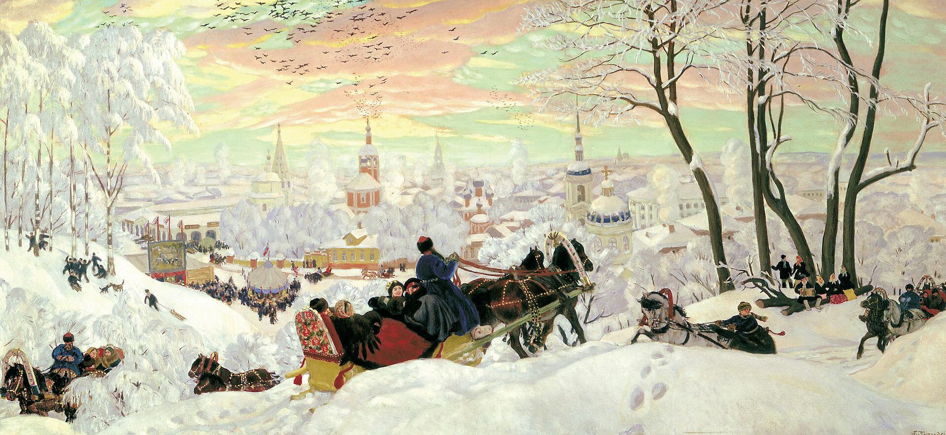 Борис Михайлович Кустодиев «Масленица», 1916 год