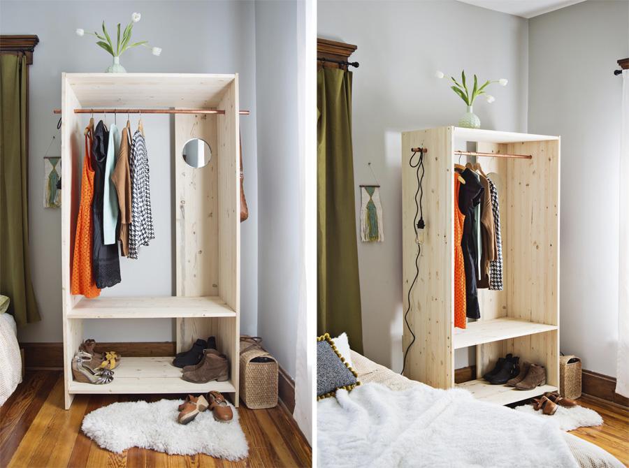 Как самому сделать шкаф для одежды за 1 вечер