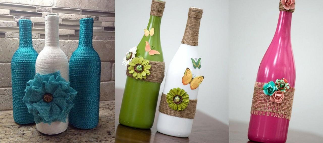 Идеи для оформления бутылок фото