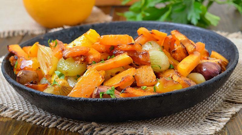 тушить тыкву с овощами