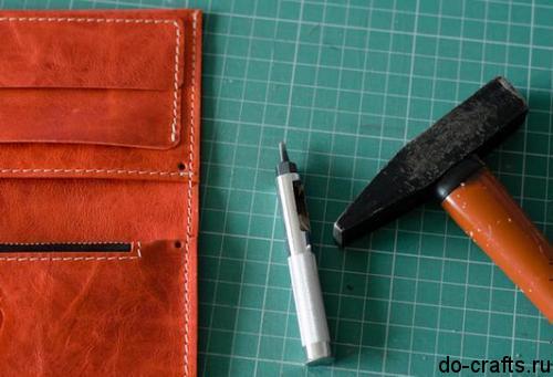 Как сделать бумажник своими руками из кожи