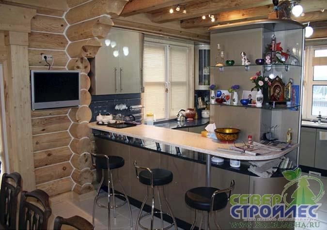 Частный дом как сделать гостиную кухню
