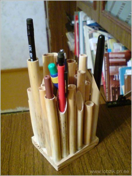 Как сделать подставку под карандаши и ручки своими руками