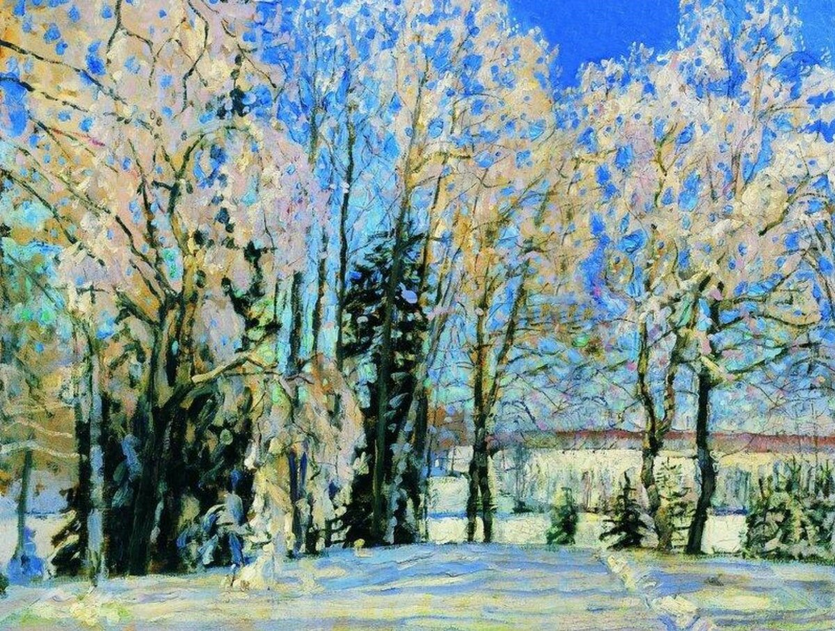 """Свежий снег"", 1912, холст, масло"