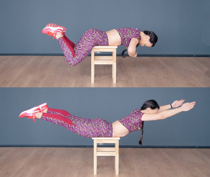 ДЕРЖИМ ФОРМУ. Тренировки для женщин. Комплекс упражнений со стулом