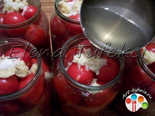 Заснеженные помидоры