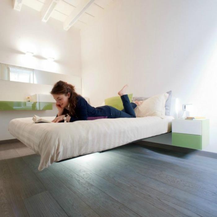 Парящая кровать от Daniele Lago.