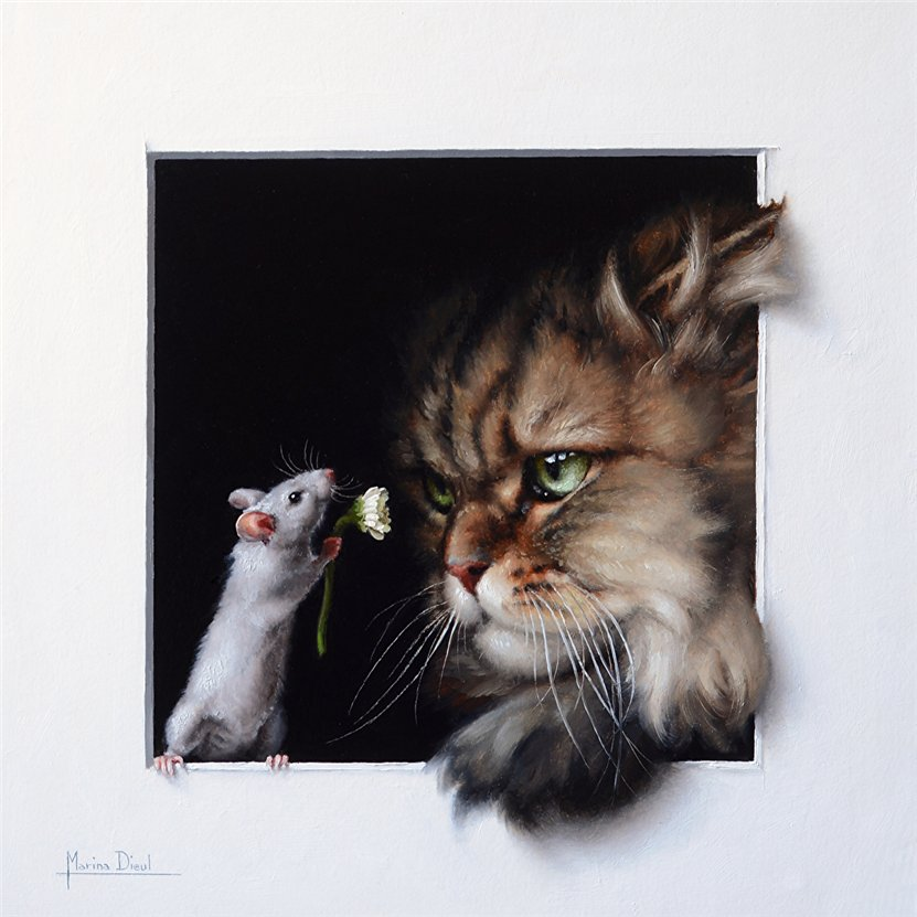 Кошки, мышки… Творчество MarinaDieul ( Франция)