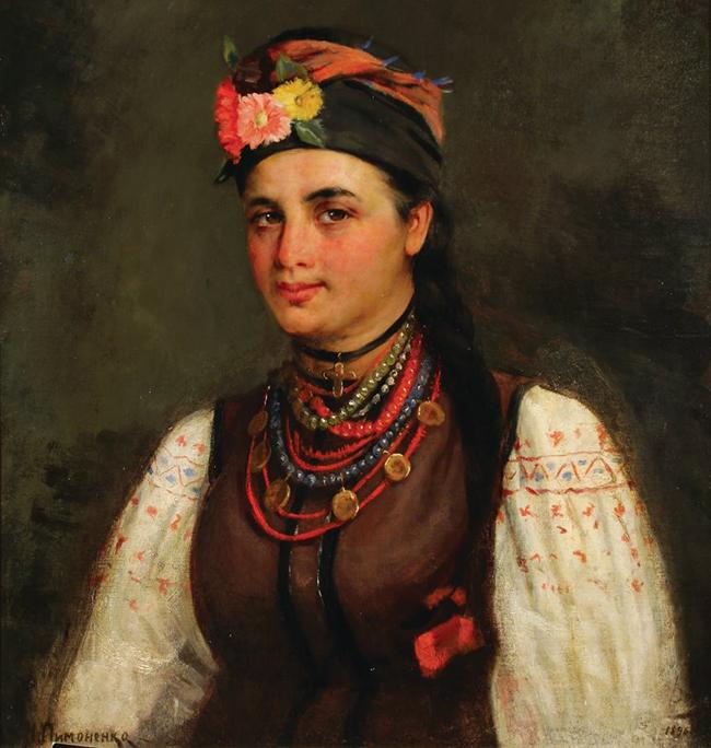 Пимоненко Портрет Марии Нестеренко 1896 17 (650x684, 316Kb)