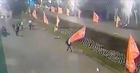 Опубликовано видео, как вандалы обезобразили Аллею Героев в Волгограде после 9 мая