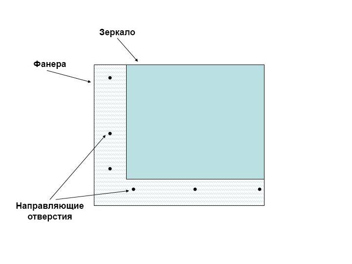 Схема сверления отверстий
